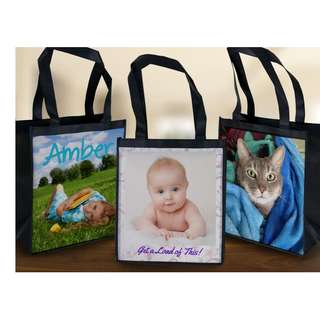 Mommy Customize Custom customized Personalised Personalized fabric reusable grocery bag
