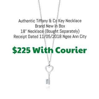 Authentic Tiffany & Co Key Necklace