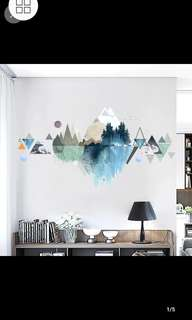 ✔Instock Creative bedroom wall stickers college dormitory wall sticker waterproof stickers living room ornament geometric pattern wall sticker self-adhesive Home decor