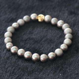 Meteorite Beads Bracelet - 46.18g 7.7mm/bead 23 beads