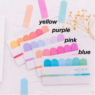 pastel rainbow sticky flags { preorder }
