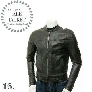 Jaket kulit pria-kulit sintetis berkualitas asli garut