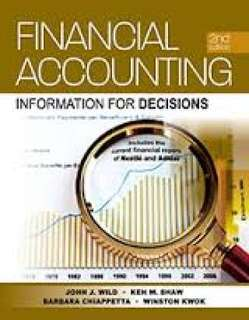 ACC1002 Financial Accounting Information For Decisions, John J. Wild etc
