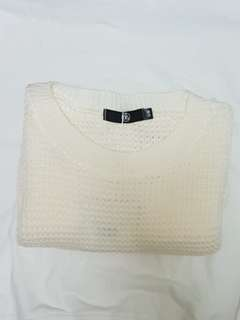 Ivory knitted sweater/pullover
