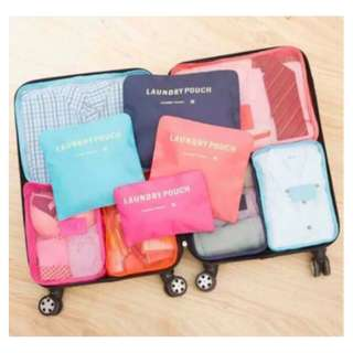 6 in 1 traveling luggage bag in bag clothes organizer