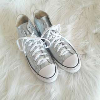 New Converse Metallic Silver high cut