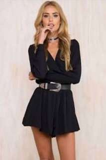 Midnight Woman Black Playsuit size 6