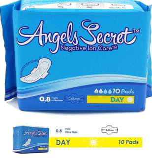 Angel's Secret Negative Ion Sanitary Pads (Day)