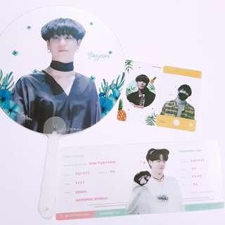 GOT7 Yugyeom Spirityugyeom fansite goods transparent fan flight ticket photocard