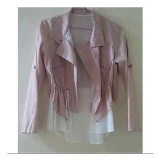 🚚 雪紡粉色薄外套