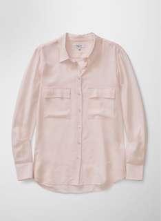 Aritzia Babaton Peyton silk dress shirt size XS 0