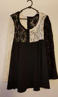 Handmade Vintage Lace A-Line Mod Dress
