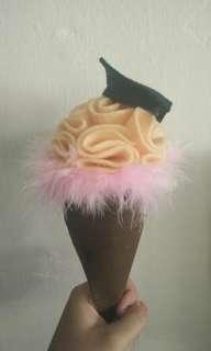 Buket Ice Cream Flanel Wisuda
