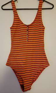 Sportsgirl Colour Stripe Bodysuit