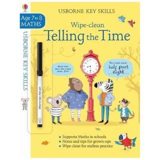 (Brand New) Wipe-Clean Telling the Time   (7-8 Key Skills)   By: Holly Bathie, Elisa Paganelli (Illustrator)   Paperback