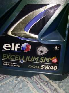 Elf Excellium SM 5w-40 car engine oil