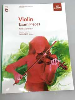ABRSM violin exam pieces Grade 6 2016-2019 syllabus