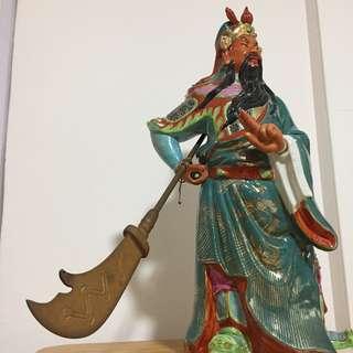Guan Gong Porcelain Statue