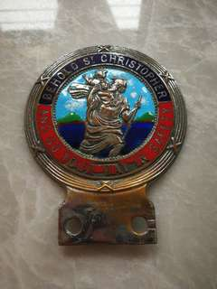 St Christopher badge for vespa or cars