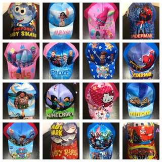 Kids Cartoon Caps (Over 20 Designs)