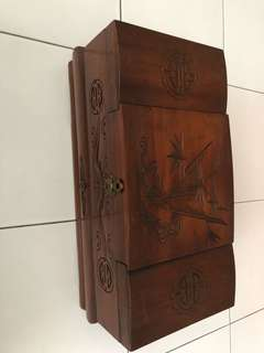 Musical Wooden jewelerly Box.  With Speak softly love tune