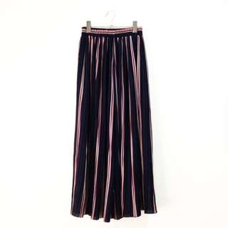 Pleated Striped Square Pants