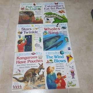 "(6@$18)""I wonder why"" children books"