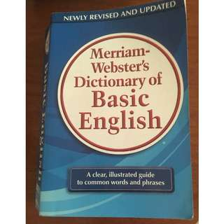 Miriam Webster Dicttionary of Basic English