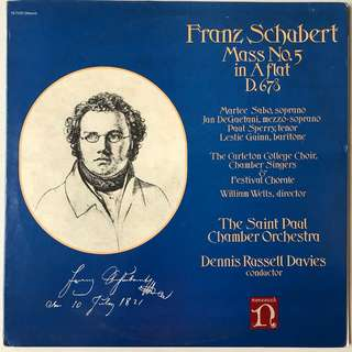 Schubert Mass 5 in A flat Nonesuch H-71335