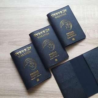 CUSTOM PASSPORT HOLDER WAKANDA BLACK PANTHER marvel