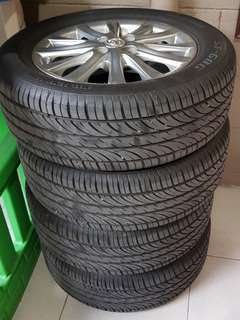 Vios mags and tires for limited edition