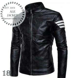 Jaket kulit biker pria - semi kulit asli garut makin keren