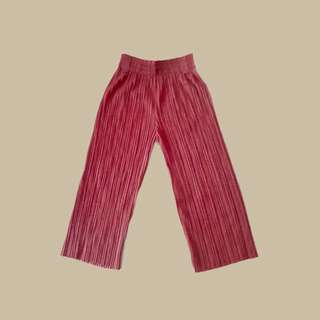 Red Orange Wide Legged Pants