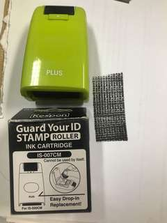 Guard ID stamp roller