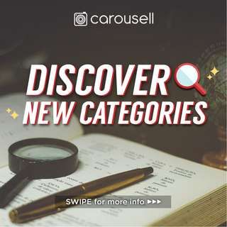 Discover New Categories✨