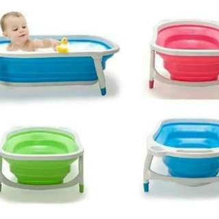 Foldable baty tub