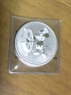 Niue 2017 1 oz silver coin BU Disney Steamboat Willie New Zealand Mint