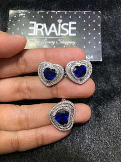 Blue Sapphire Diamonds in Hk setting