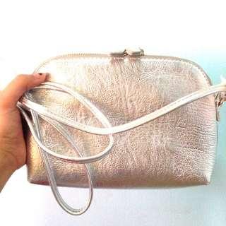 H&M Silver Bag