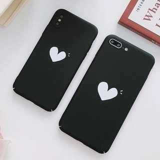 #手機殼IPhone6/7/8/plus/X : 可愛小愛心全包邊軟殼