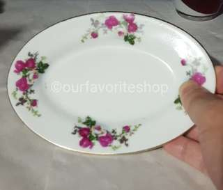 Rare Vintage 5 Roses Mini Plate