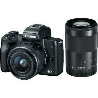 Canon EOS M50 Mirroless 15-45mm dan 55-200mm kredit tanpa kartu kredit
