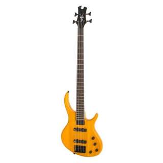 Epiphone Toby Deluxe-IV 4-String Bass Guitar, Satin Translucent Amber