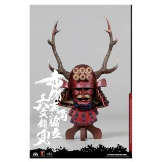 [PRE ORDER] Coo Model - Series of Empires No: SE032 - Japan's Warring States - Red Buckhorn Six-Coin Kabuto (Helmet Edition) - 1/6 Collectible Accessories