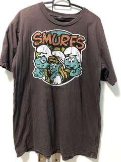 Preloved smurf cotton tee tshirt