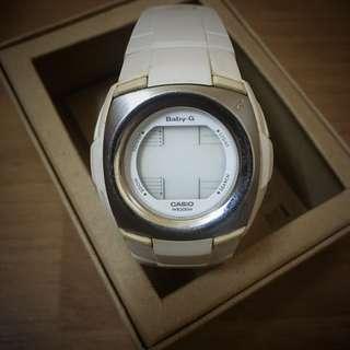 ORIGINAL WHITE CASIO BABY G SHOCK 3007 BG-1221 LCD DIGITAL CHRONOGRAPH QUARTZ WRIST WATCH