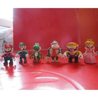 Mario 瑪利歐系列公仔6隻 (有瑕疵)