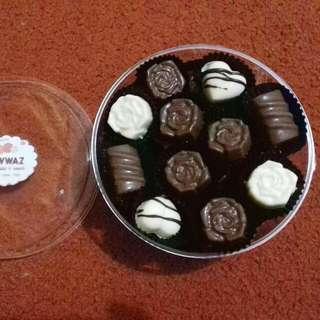 Toples Besar Coklat / Cokelat Kombinasi Original, Isi Kacang, Isi Biskuit