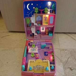 Vintage Toy Polly Pocket Starbright Dinner 1994 Light Up