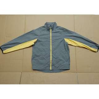 jaket running nike clima-fit warna abuabu-kuning